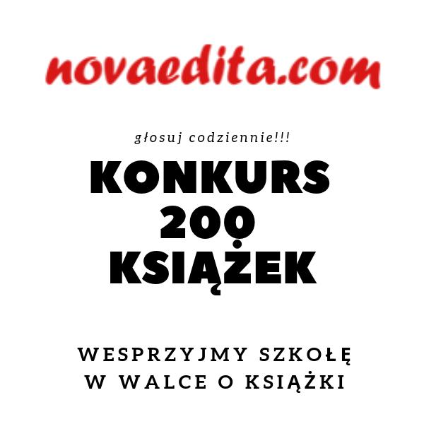 Konkurs 200 książek do wygrania – Nowaedita Wesprzyjmy naszą Bibliotekę!