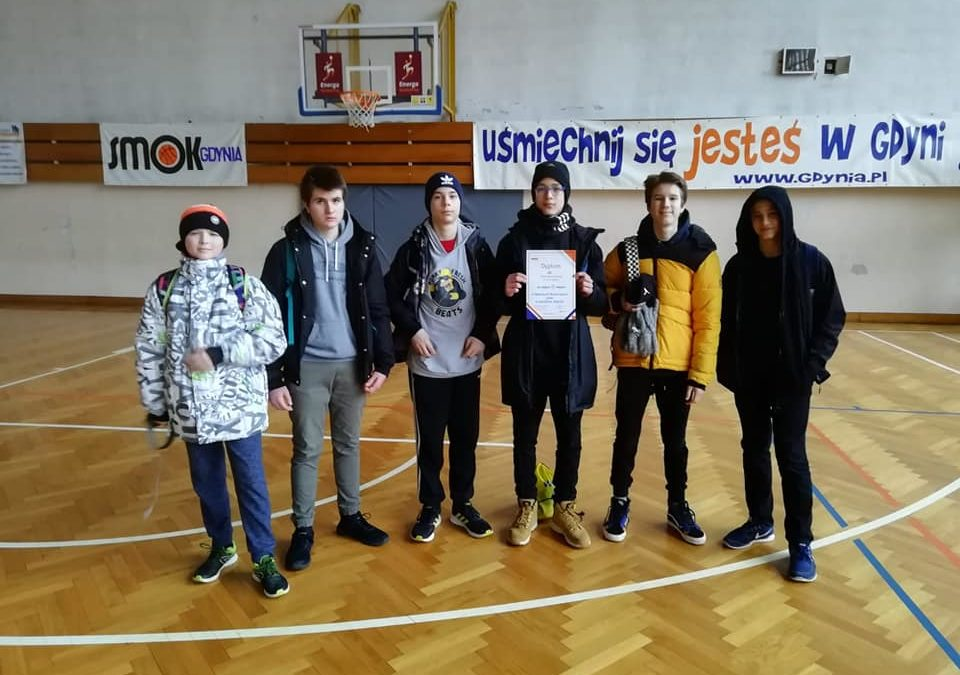 3 miejsce w Rejonowych Mistrzostwach Gdyni w Koszykówce Chłopców