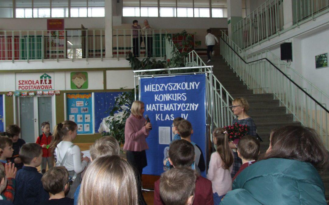 XX edycja Międzyszkolnego Konkursu Matematycznego Klas Czwartych