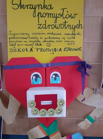 Skrzynka pomysłów dla całej społeczności szkolnej – SZKOŁA PROMUJĄCA ZDROWIE