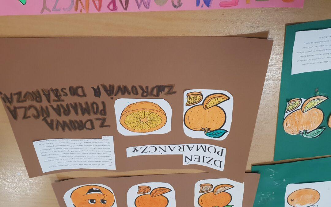 Dzień pomarańczy w świetlicy szkolnej.