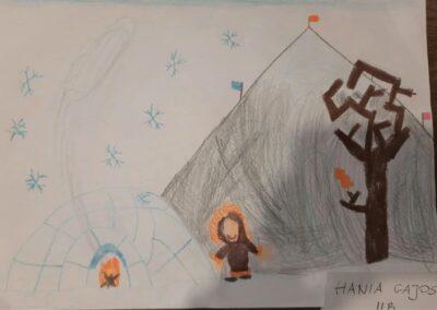 Krajobraz zimowy Hania Gajos 2B