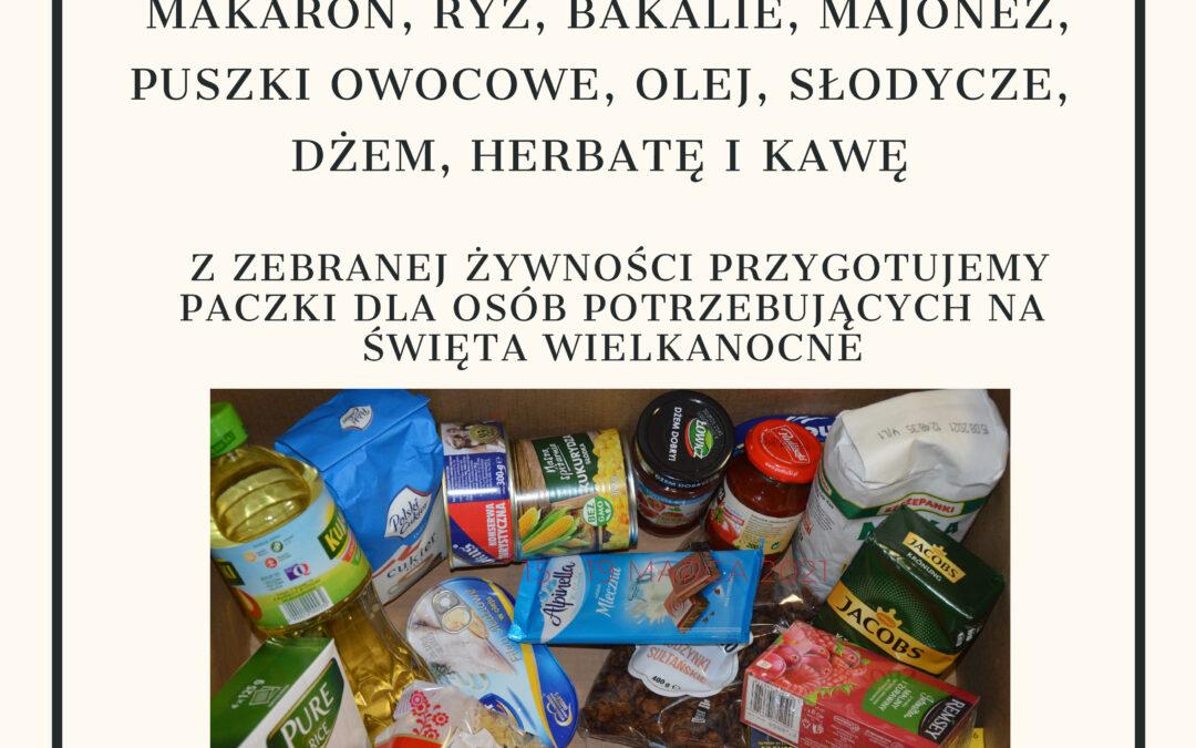 """WIELKI """"karton"""" POST, czyli zbiórka żywności w dniach 15-19.03.2021"""