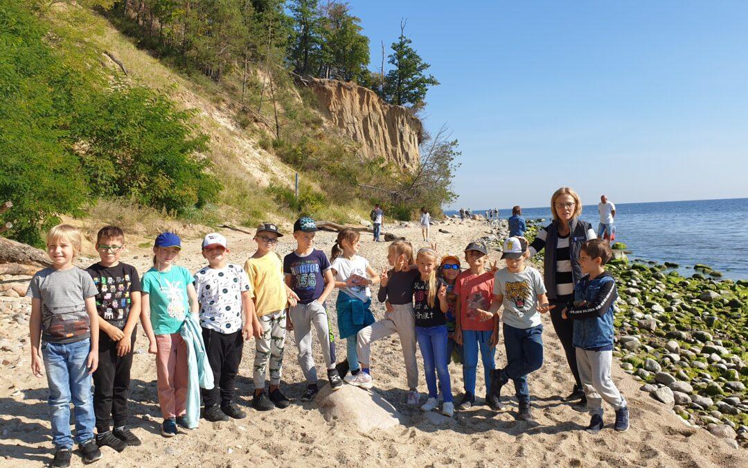 Zajęcia geologiczne na plaży orłowskiej 2A